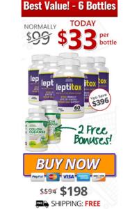 leptitox nutrition 6 bottles